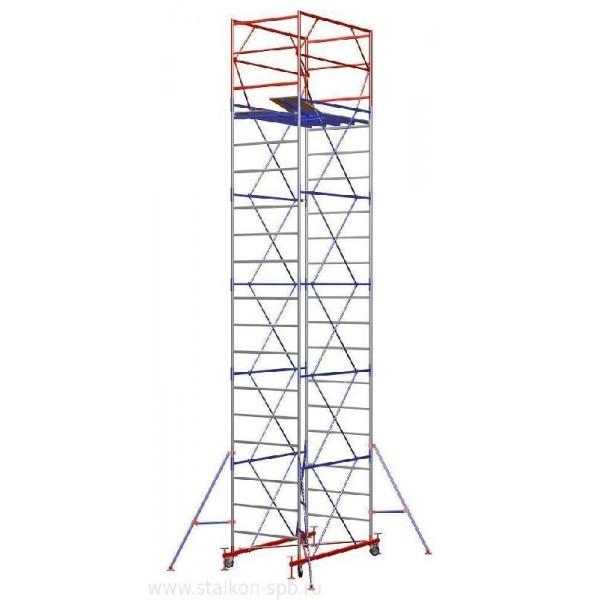 Вышка-тура Zitrek МЕГА-2 Н=18,4м (14 секций, со стабилизаторами)
