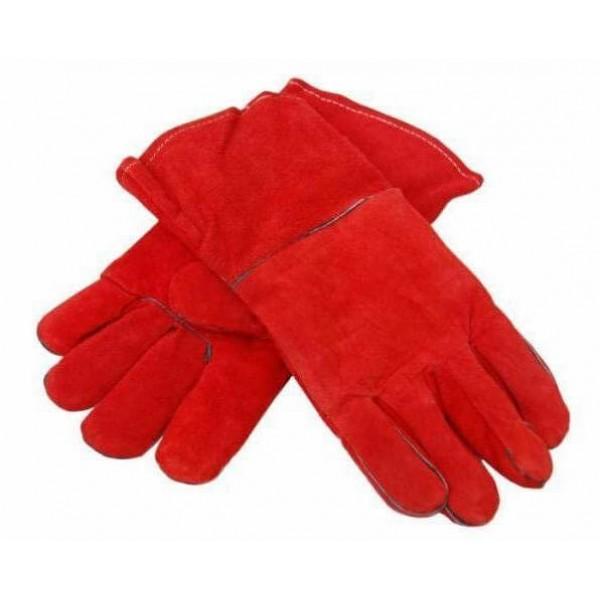 Перчатки пескоструйщика (красные)