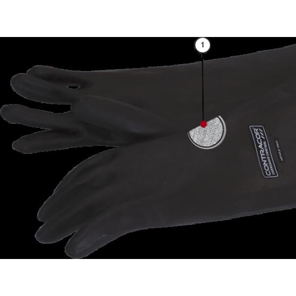 Перчатки резиновые Contracor, 800 мм RGS текстильная подкладка, гладкие